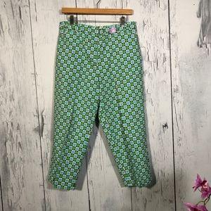 Talbots Geometric Pattern Cropped Pants Sz 10 EUC
